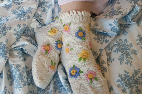 Alpine Meadow Bed Socks (North Carolina)