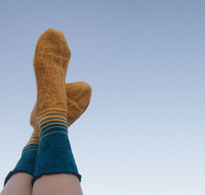 From the Fields to the Stars Sock by Joy Gerhardt