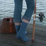 Ohio River Socks by Rusty Theresa Morris