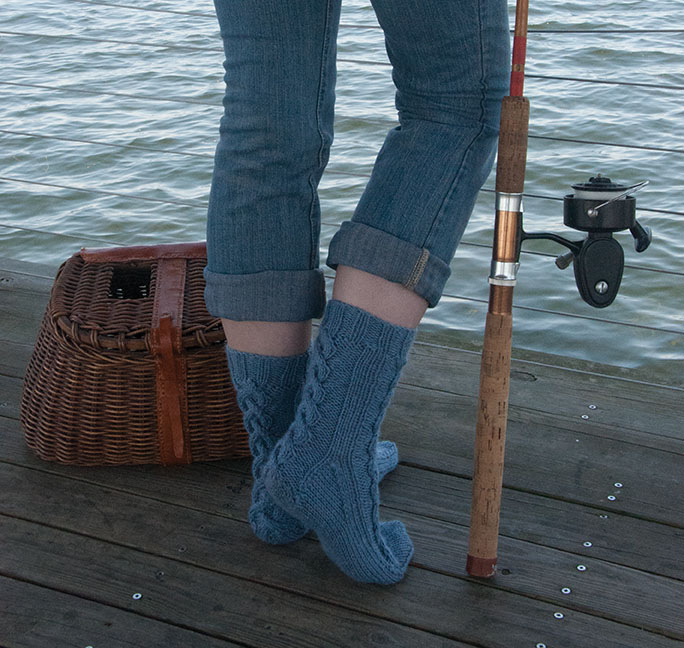 Ohio River Socks by Rusty Theresa Morris