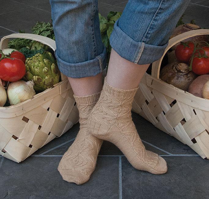 Sweet Onion Socks by Susan Moskwa