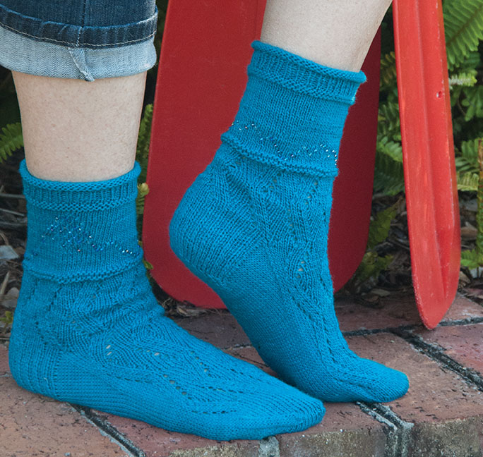 Willamette River Socks by Allison Isaac
