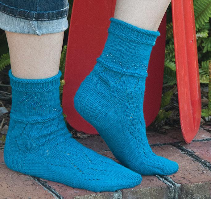 Willamette River Socks by Allison Isaac