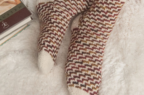 Winter Chases Fall Socks (Massachusetts)